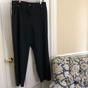 Chico's size 3 (XL) regular black travel pants